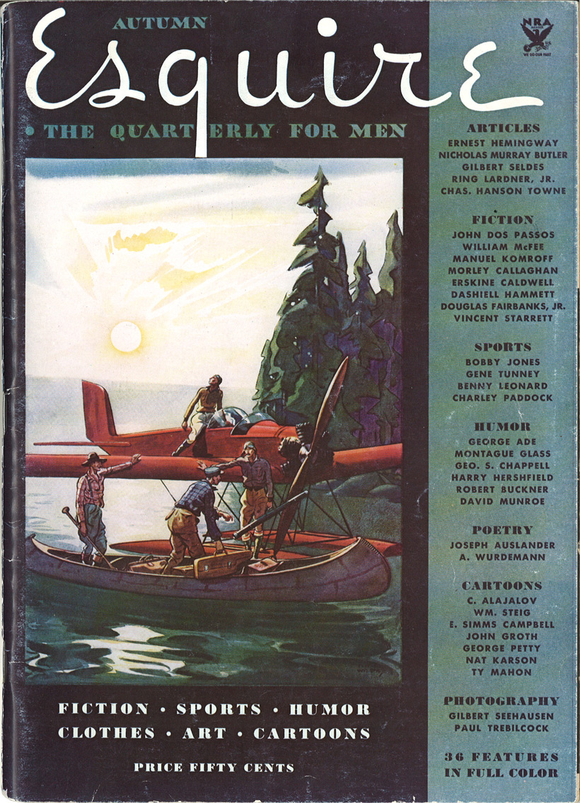 Esquire's first issue, 1933