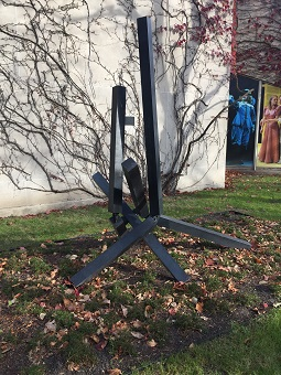 Image of John Henry's Forecast sculpture outside Court Theatre