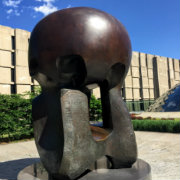 Image of Henry Moore's Nuclear Energy sculpture