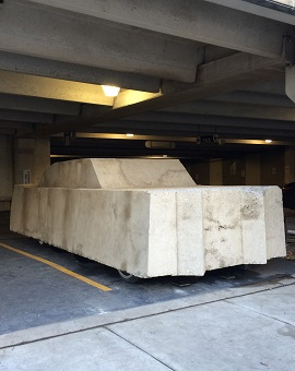 Image of Wolf Vostell's Concrete Traffic sculpture