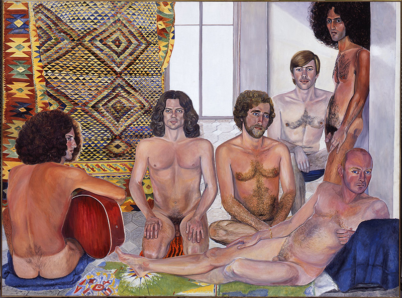 Sylvia Sleigh, The Turkish Bath, 1973, Oil on canvas, Smart Museum of Art, The University of Chicago, Purchase, Paul and Miriam Kirkley Fund for Acquisitions, 2000.104