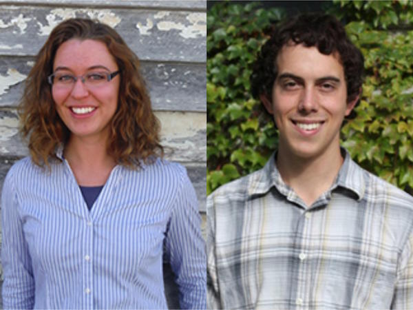 Mallory James (PhD student, Anthropology) and Daniel Reid (MS candidate, Institute for Molecular Engineering)