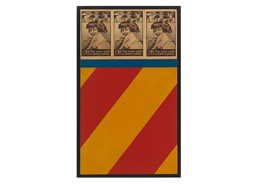 Pater Blake, Wall, 1959, Three postcards, wood and oil on masonite with original painted wooden frame, Smart Museum of Art, The University of Chicago, Gift of Sylvia Sleigh in memory of Lawrence Alloway, 1991.277.