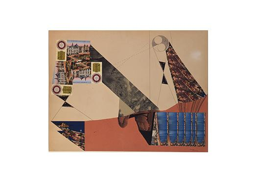 Roland Penrose, Collage, 1937, Pencil, decalomania, and paper collage on paperboard, Smart Museum of Art, The University of Chicago, Gift of Sylvia Sleigh in memory of Lawrence Alloway, 1991.304.