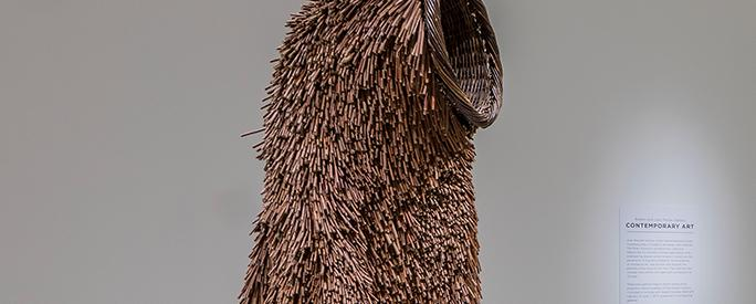 Nick Cave, Soundsuit, 2011, Twigs, wire, upholstery, basket, and metal armature. Smart Museum of Art, The University of Chicago, Purchase, The Paul and Miriam Kirkley Fund for Acquisitions, 2011.44.