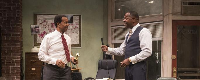 """Radio Golf"" at Court Theatre with Allen Gilmore and James Vincent Meredith. (Michael Brosilow photo)"