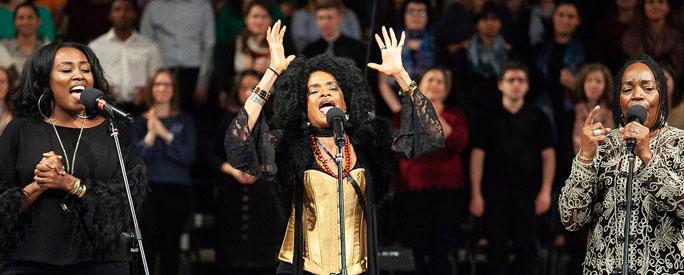 After earning a standing ovation at Rockefeller Chapel in November, Sweet Honey In The Rock returns to UChicago this week with a performance at Mandel Hall.