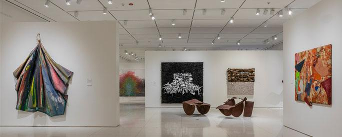 Installation views of Solidary & Solitary: The Joyner/Giuffrida Collection, at the Smart Museum of Art until May 19. (Michael Tropea Photography)