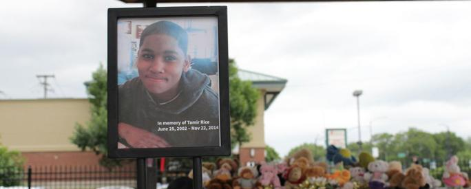 The newly rebuilt gazebo dedicated to the late Tamir Rice © Cleveland.com