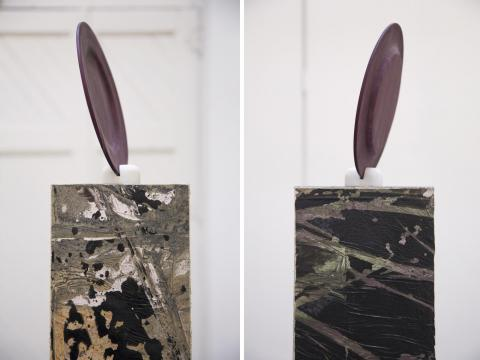 Chipped Plate, plinth by David Lloyd (Richard Williamson)