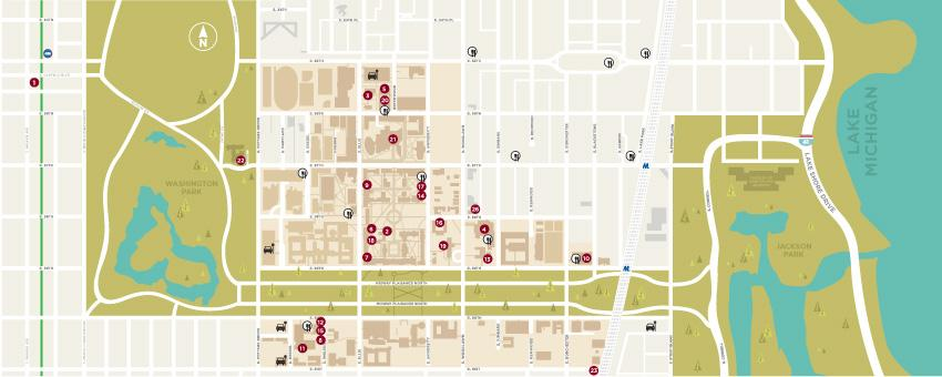 Maps & Locations | UChicago Arts | The University of Chicago