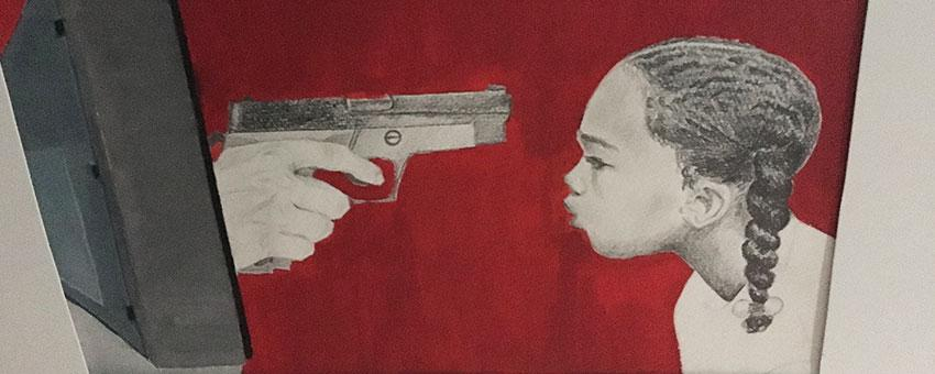 'Promise of Peace' opening exhibition, artwork by Sekani K. Reed