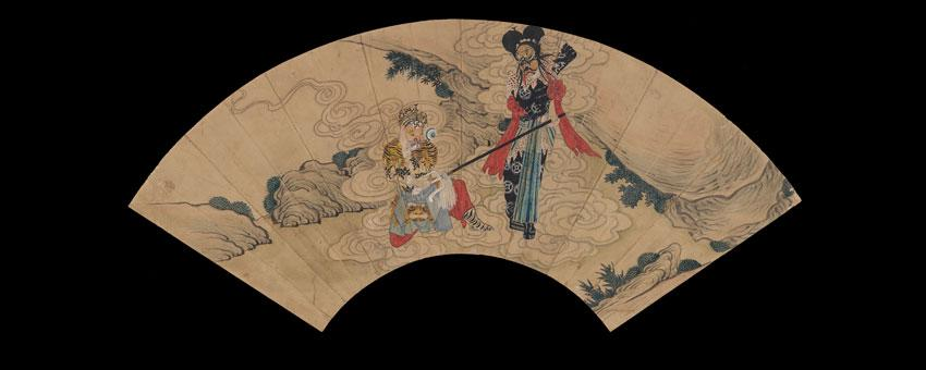 Fan Painting with Peking Opera Scene (Tiger), Courtesy Museum of Fine Arts, Boston.