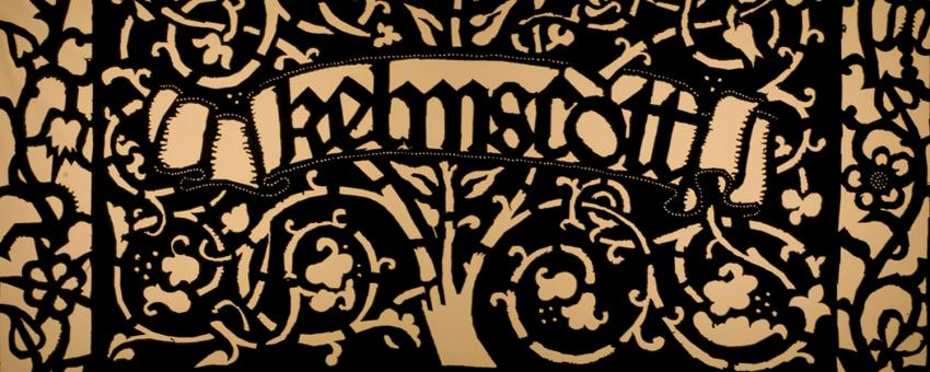 Printer's mark designed by William Morris for his Kelmscott Press