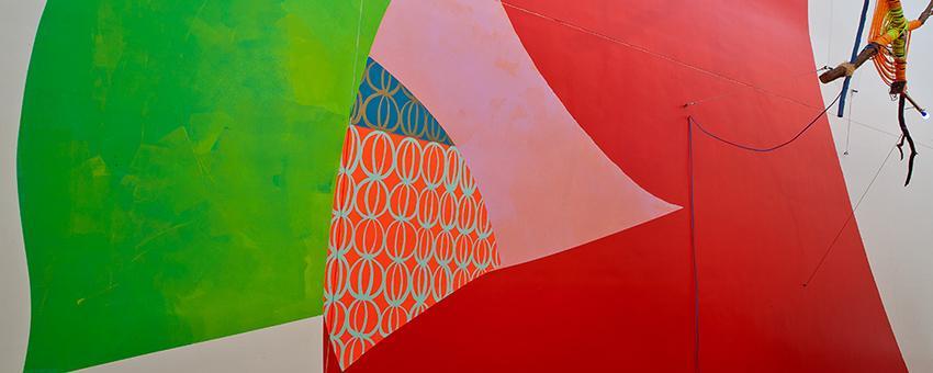 Jessica Stockholder, Rose's Inclination, 2015
