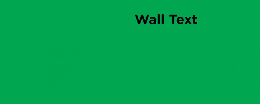Wall Text