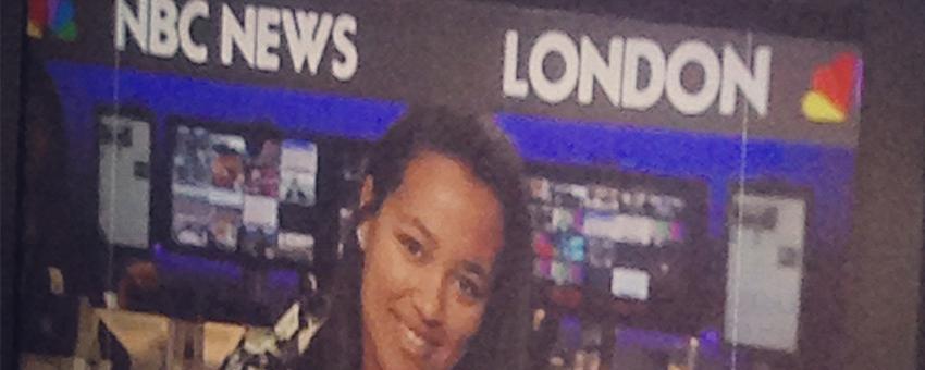 Amber Love '17 at NBC London