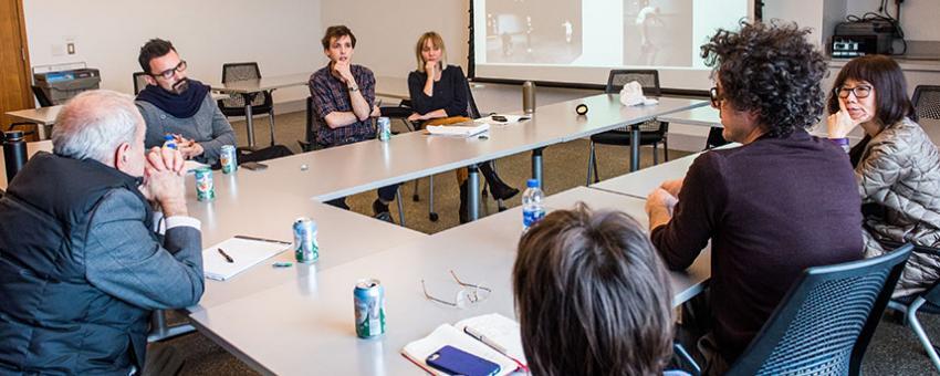Graduate Collaboration project critique, 2017–18.