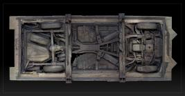 Image of the underside of the Concrete Traffic sculpture using photogrammetry method