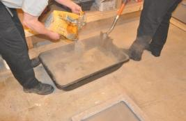 Image of the construction of Pavement Piece 2