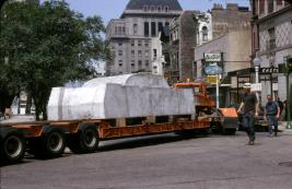 Image of Concrete Traffic being transported by truck to the University of Chicago