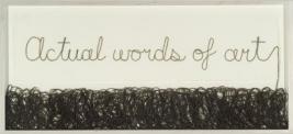 Buzz Spector, Actual Words of Art