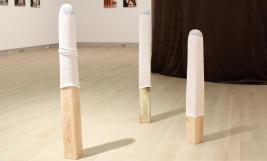 Installation view of work by Stacee Kalmanovsky