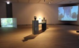 even Installation view with the work of Shane Ward (center) and Eric Watts (left and right)