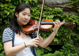 A girl and her violin: a look at musician Zidi Chen, one of the winners of the University of Chicago Concerto Competition.