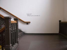 Instance the determination, text in Classics Building. Photo by Maria Perkovic.