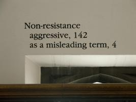Instance the determination, text in Classics. Photo by Maria Perkovic.