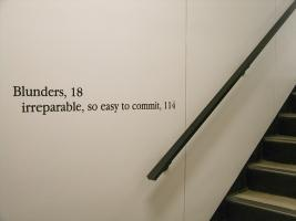 Instance the determination, text in Cobb Hall. Photo by Maria Perkovic.