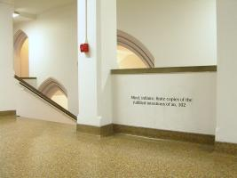 Instance the determination, text in Eckhart Hall. Photo by Maria Perkovic.