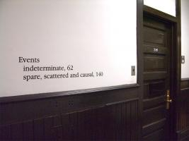 Instance the determination, text in Foster Hall. Photo by Maria Perkovic.