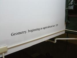 Instance the determination, text in Ryerson Lab. Photo by Maria Perkovic.