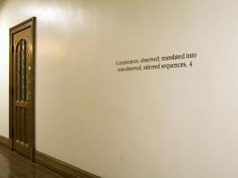 Instance the determination, text in Swift Hall. Photo by Maria Perkovic.