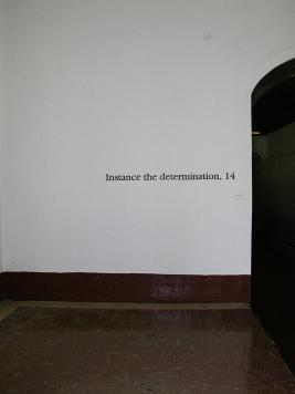 Instance the determination, text in Harper. Photo by Maria Perkovic.