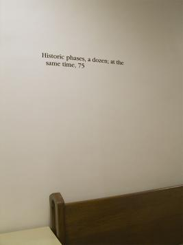 Instance the determination, text in Wieboldt Hall. Photo by Maria Perkovic.