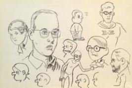 sketches by Daniel Clowes
