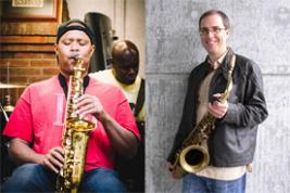 Steve Coleman (left) and Geof Bradfield  (DIMITRI LOUIS/COURTESY GEOF BRADFIELD)