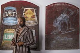 Theaster Gates, photographed in his Chicago studio by Matthew Gilson for the Observer New Review