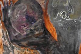 "Leon Golub's ""Siamese Sphinx II,"" (1955) (VAGA, New York)"