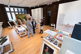 "The Neubauer Collegium's inaugural exhibition, ""No Longer Art: Salvage Art Institute"" (photo by John Zich)"