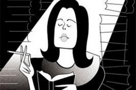 Susan Sontag (sketch by Robert Risko, The New Yorker)
