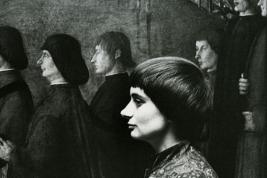 Agnes Varda Autoportrait Black and White