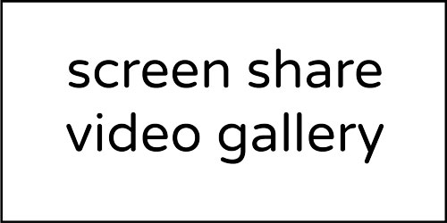 Screen Share Video Gallery